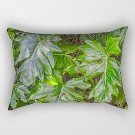 Luscious Green Rainforest Vine Rectangular Pillow