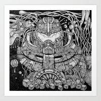 pacific rim Art Prints featuring Pacific Rim by Walid Aziz