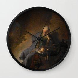 Rembrandt - Jeremiah Lamenting the Destruction of Jerusalem (1630) Wall Clock