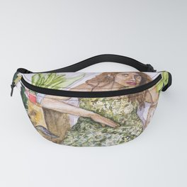 woman with plants Fanny Pack