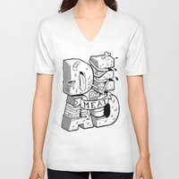 meat V-neck T-shirts featuring Dead meat by Twelve Gauge