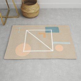 Behind - Earth colors simple minimalist art Rug