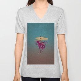 Flying Octopus Unisex V-Neck