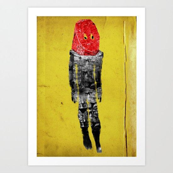 alien lipstick Art Print