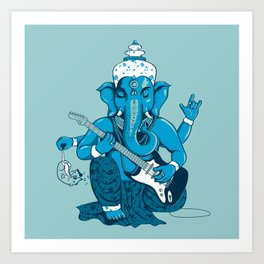 Ganesha rocks ! (v3) Art Print