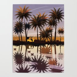 Allepey backwaters ft. Tuktuk Poster