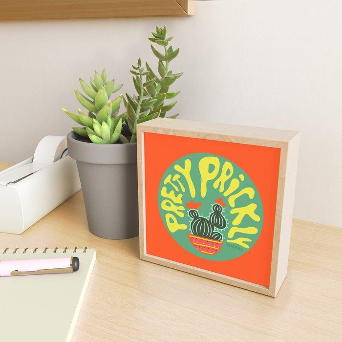 Pretty Prickly Framed Mini Art Print