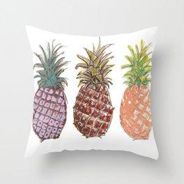 Pineapple Trio Throw Pillow
