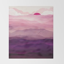 Ultra Violet Day Throw Blanket