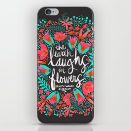 The Earth Laughs in Flowers – Pink & Charcoal iPhone Skin