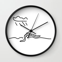 earthworm rile earths cooked Wall Clock