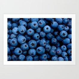 Blueberry berry fruit background Art Print
