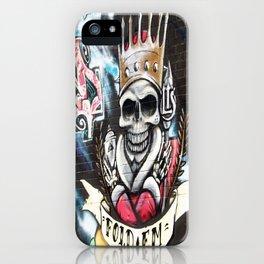 Las Vegas Skull Graffiti iPhone Case