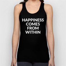 happiness comes from within Unisex Tank Top