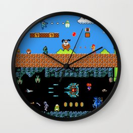 The Great Sprite Battle Wall Clock