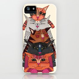 pile of cats iPhone Case