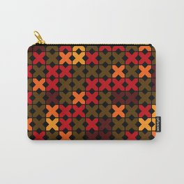 An abstract geometric pattern . Rustic . Carry-All Pouch