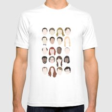 the office minimalist poster Mens Fitted Tee LARGE White