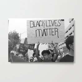 BLACK LIVES MATTER (10% Donation to ACLU) Metal Print