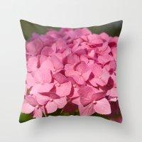 hydrangea Throw Pillows featuring Hydrangea by Susann Mielke