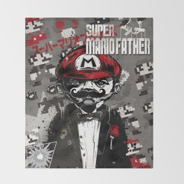 Super Mario Father Throw Blanket