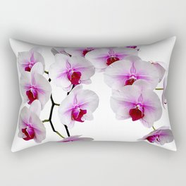 White and red Doritaenopsis orchid flowers Rectangular Pillow