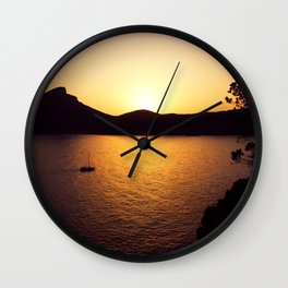 Sunset in Sant Elm Wall Clock