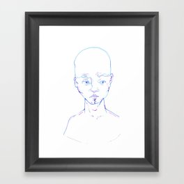 Troubled Young Man Framed Art Print