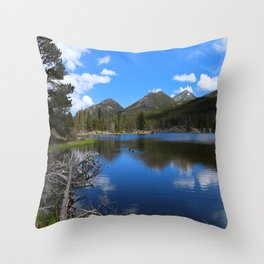 Sprague Lake And Cloud Reflection Throw Pillow
