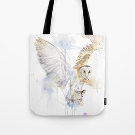 "Watercolor Painting of Picture ""White Owl"" Tote Bag"