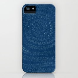 Circular Plant in Teal iPhone Case