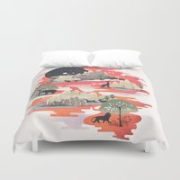 dreams Duvet Covers featuring Landscape of Dreams by dan elijah g. fajardo
