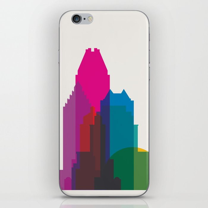 Shapes of Montreal. Accurate to scale. iPhone Skin