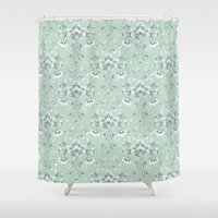 damask Shower Curtains featuring Damask... by Catherine Ann Lewis