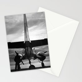 Airplane at sunrise Stationery Cards