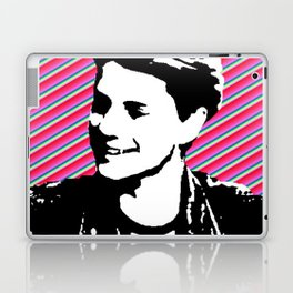 jace norman print art pink stripe Laptop & iPad Skin