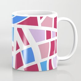 Broken Pink And Blue Abstract Coffee Mug