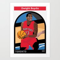 dwight Art Prints featuring Dwight Buycks by Everyplayerintheleague