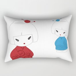Japanese dolls Rectangular Pillow