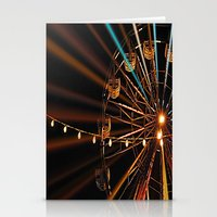 ferris wheel Stationery Cards featuring Ferris Wheel by Renee Trudell
