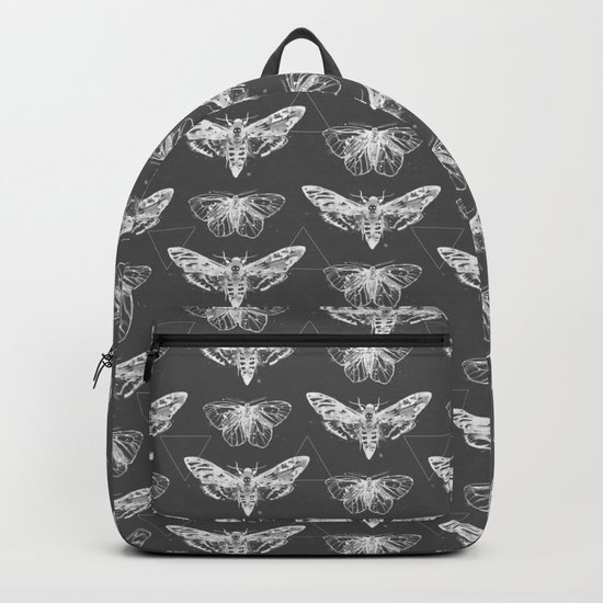 Geometric Moths inverted Backpack