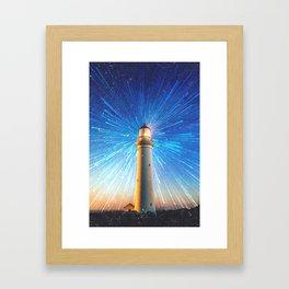 lighthouse lights Framed Art Print