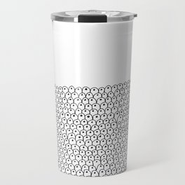 simple black and white doodle scaley pattern Travel Mug