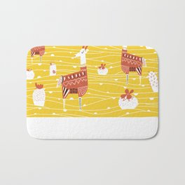 Antelope in the desert Bath Mat