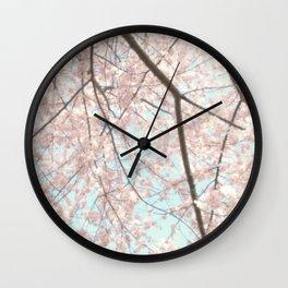 Vintage pink tree Wall Clock