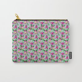 Australian Floral Hand Drawn Repeating Pattern Carry-All Pouch