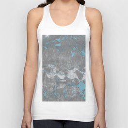 Blue and Gray Marble Unisex Tank Top