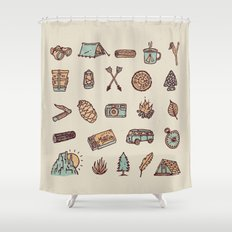 Lets Go Camping Shower Curtain