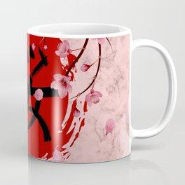Blooming Sakura branches and red Sun Coffee Mug