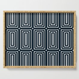 Rectangles - Navy Serving Tray